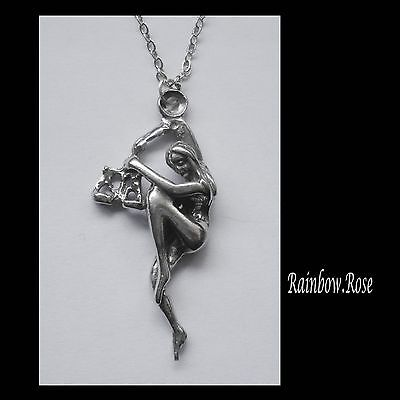 Pewter Necklace ZODIAC #1529 LIBRA (Sept 23 - Oct 23) 18mm x 40mm
