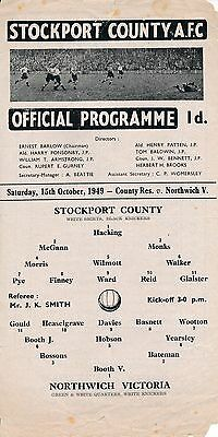 Stockport Reserves v Northwich (Cheshire League) 1949/0