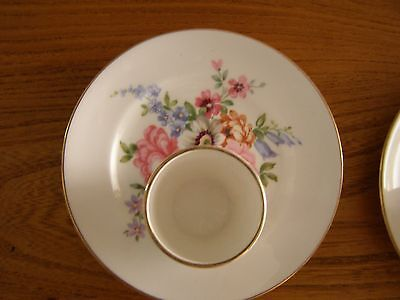 Crown Staffordshire Vintage Bone China Egg cups and plates