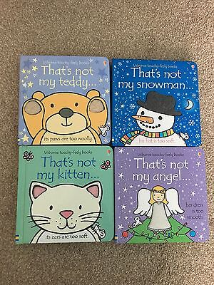 That's Not My Books Collection Bundle Angel Snowman Kitten Teddy Sensory Touch