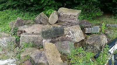 Large collection of Yorkshire stone bolders