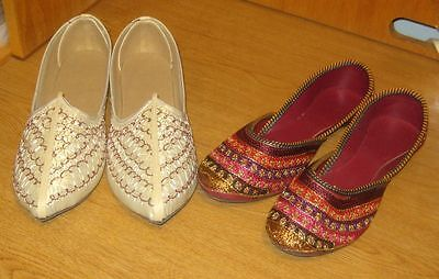 Men's & Women's Set of Stylish Ethnic Footwear from Rajasthan, India