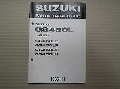 Suzuki 450 GS450 GS450L genuine parts catalogue 9900B-30053-010 lightly USED