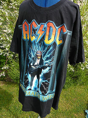 Acdc Who Made Who T-Shirt Size 2Xl Double Sided Rare