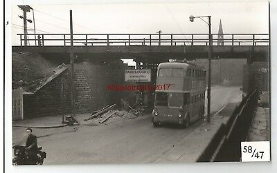 Manchester Trolley Bus  HTD 868 Bolton Real Photo 58/47