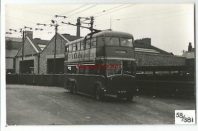 Manchester Trolley Bus Mosley Common Real Photo 58/381