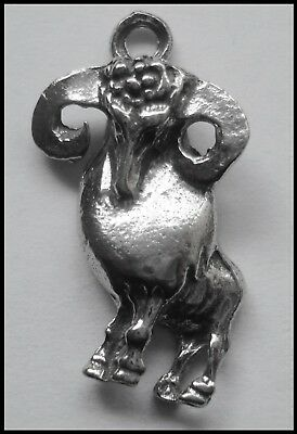 Pewter Charm ZODIAC #1524 ARIES (Mar 21 - Apr 19) 18mm x 27mm