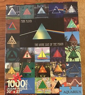 NEW Pink Floyd Dark Side Of The Moon Anniversary Puzzle 1000 Pieces Aquarius