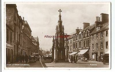 Scotland Forres High Street Real Photo Vintage Postcard