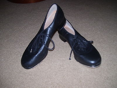 BLOCH Black Leather TAP SHOES *Oxford Style* Women's Size 10