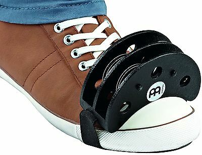 Meinl Percussion FJS2S-BK Cajon Player's Foot Tambourine with Steel Jingles B...