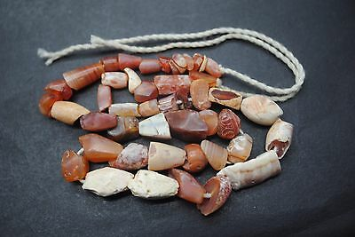 Beautiful Ancient Egyptian Carnelian Carved Bead Necklace, Middle Kingdom
