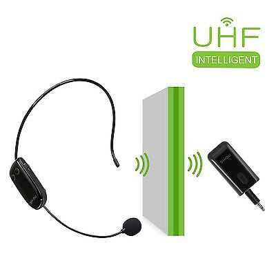 WinBridge UHF Wireless Microphone 2 in 1 Headset and Handheld for Voice Ampli...
