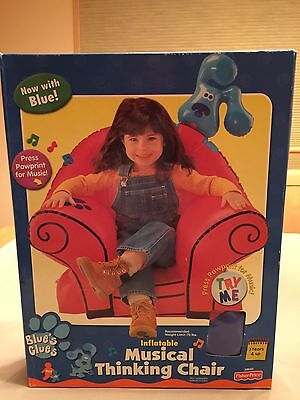 Blues' Clues Inflatable Musical Thinking Chair NIB EXTREMELY RARE