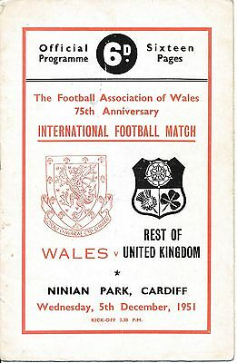 Wales v Rest of the UK (Welsh FA 75th Anniversary) 1951
