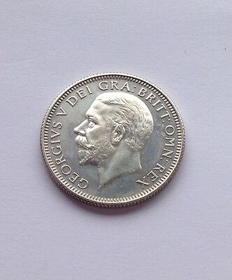 George V 1927  Silver Proof Shilling (Mint State)