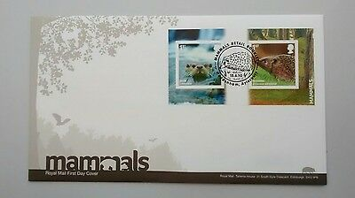 2010 Mamals Self Adhesive Otter AND Hedgehog FIRST DAY COVER