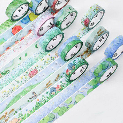 DIY Washi Masking Tape 7 Meter Paper Sticker 24 Solar Terms Decorative Scrapbook