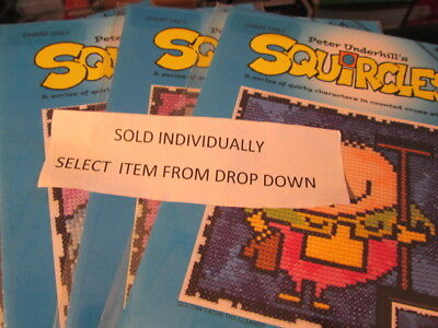 Squircles Sports- Peter Underhill Cross Stitch Chart-Your Choice Heritage