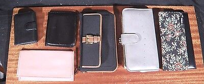 Lot Of 5 Vintage WALLETS Wholesale NEW OLD STOCK Leather Brocade Anne Klein