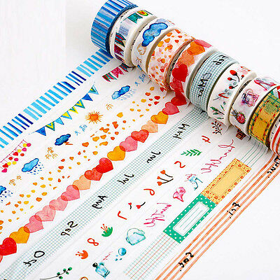 DIY Craft Washi Masking Tape 8 Meter Paper Sticker Decorative Adhesive Scrapbook