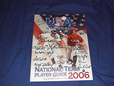 2006 Team USA Autographed Program MLB Authernticated