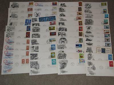 United Nations, Approx. 60 1960`s-70`s, FDC`s unaddressed,  Lot# UN 4