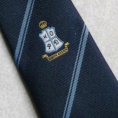 HOME OFFICE NORTH REGION TIE RARE VINTAGE RETRO NAVY 1970s HOPD BY MACCRAVATS