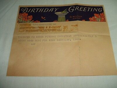 Three Old Telegrams - Birthday,  Valentines And Other