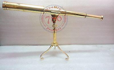 Nautical Brass Dollond London Spyglass Folding Stand Telescope Collectible