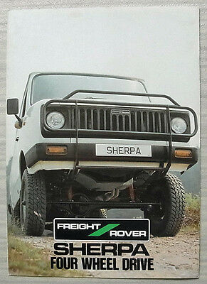 FREIGHT ROVER SHERPA FOUR WHEEL DRIVE Sales Brochure #FR12