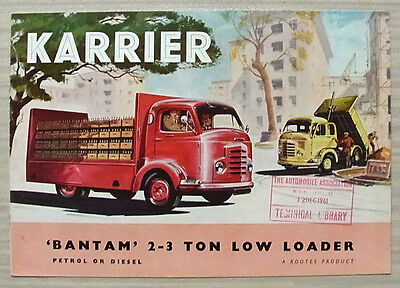 KARRIER BANTAM 2-3 TON LOW LOADER Commercial Sales Brochure Aug 1960 #1449A