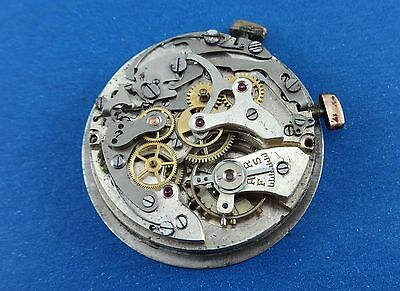 TRESSA Chronograph Movement LANDERON 48, Dial & Case Parts to Restore. Ca 1960's