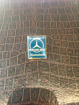 MERCEDES BENZ LOGO HAT SILVER PIN LAPEL PIN with Tie Tack Clutch & Chain