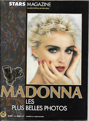Madonna French Teenagers Stars Magazine Special Edition 1988 - 52 Pages Rare
