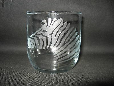 New Etched Zebra Rocks Old Fashioned Glass Tumbler