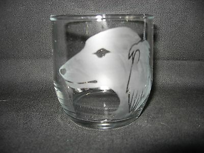 New Etched Saluki Rocks Old Fashioned Glass Tumbler