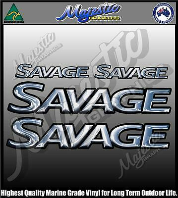 Savage - Boat Decal Set Of 4 - Boat Decals