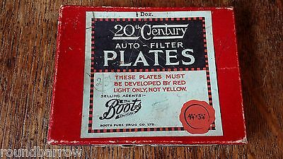 1920's 20Th Century Auto-Filter Plates Box - Dry Glass Camera Plates H&d 350