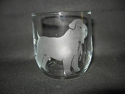 New Etched Wheaten Terrier Rocks Old Fashioned Glass Tumbler