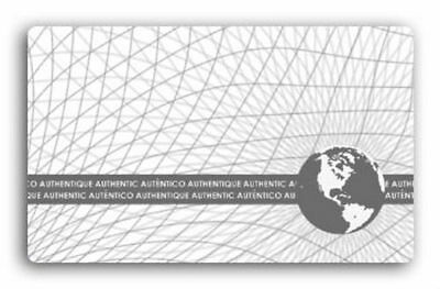 100 ID CARD HOLOGRAM WORLD MAP STICKER HOLOGRAPHIC Self Adhesive