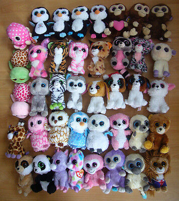 Large bundle collection job lot of 40 Ty Beanie Boos soft toys Cleo Bubblegum
