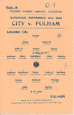 Leicester v Fulham (War League South 15.08) 1945/6
