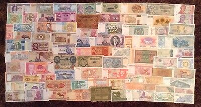 World Banknote Collection. 85 X Banknotes. All Different Lot.