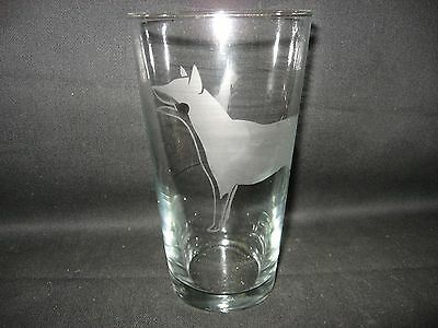 New Etched Australian Cattle Dog Pint Glass Tumbler