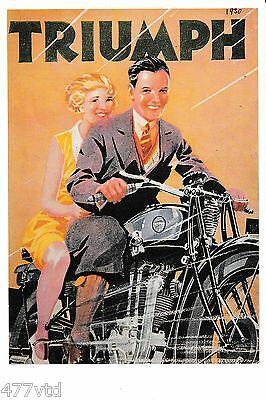 Triumph Motorcycle Postcard. Excellent Unused Condition