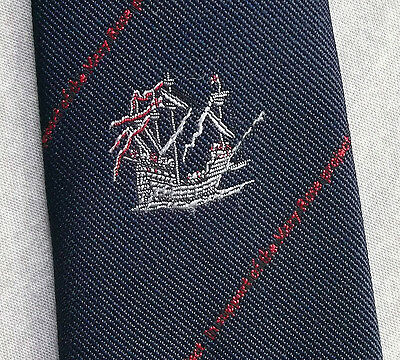 MARY ROSE PROJECT TIE VINTAGE RETRO 1980s BY SHARPS FREEMAN WARSHIP  HENRY VIII