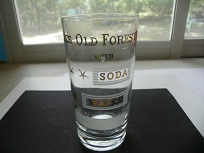 Vtg Likes Old Forester With Soda Water Kentucky Straight Bourbon Whiskey Glass