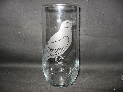 New Etched Crow Raven Glass Tumbler