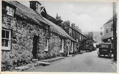 1940s Llwyngwril High Street Scene Unused Wales Postcard